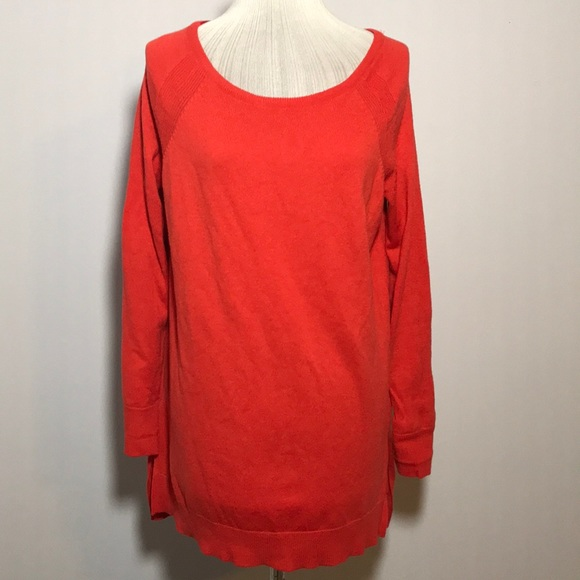 71% off Ann Taylor Sweaters - Ann Taylor orange wool blend tunic ...